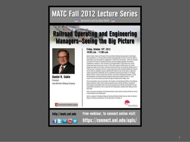 MATC Fall Lecture Series: Dan Sabin