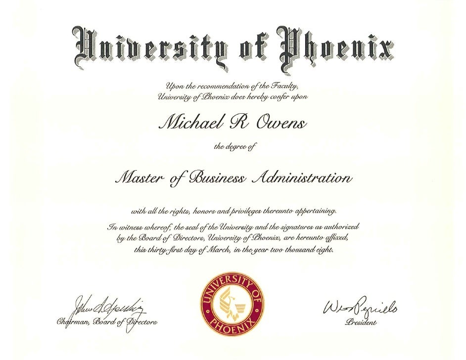 university of phoenix diploma  u0026 transcript