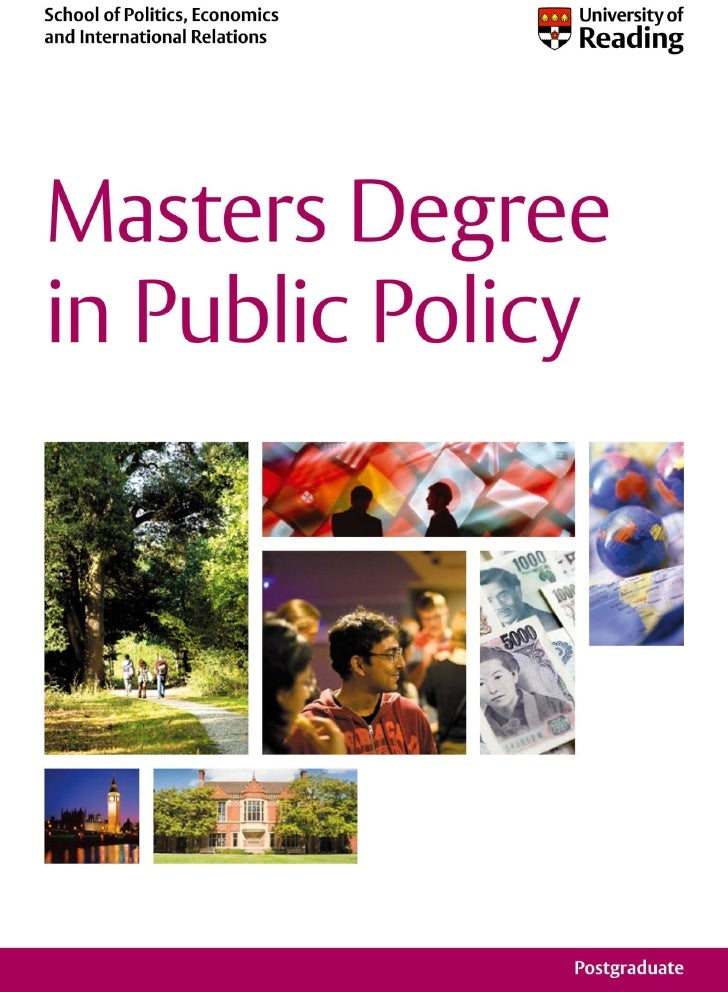 University of Reading -- Masters Degree in Public Policy