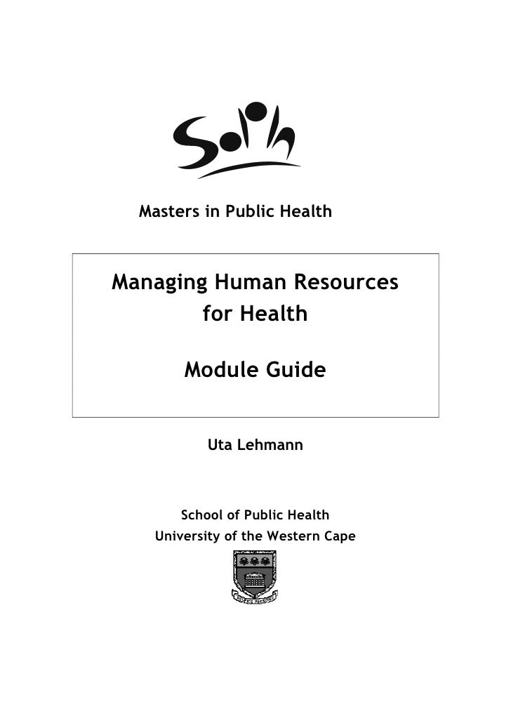 Managing Human Resources for Health - 2010