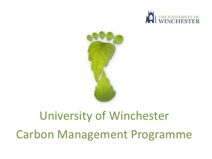 """Carbon Management Programme"" - Mat Jane, University of Winchester"