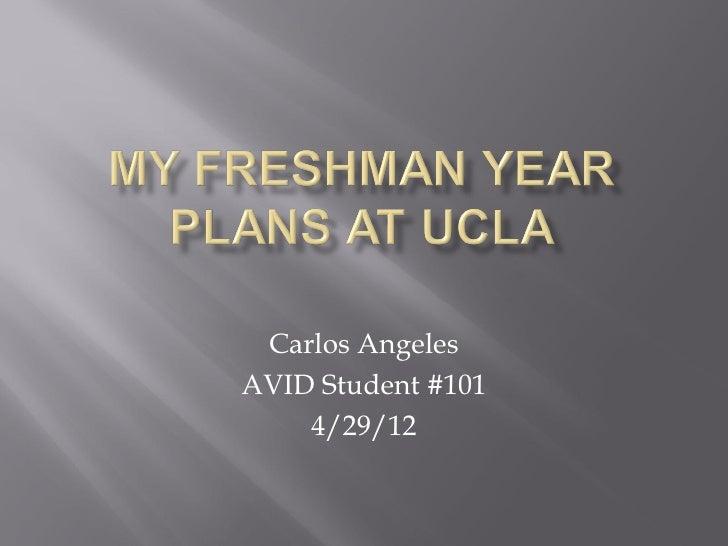 Carlos AngelesAVID Student #101    4/29/12