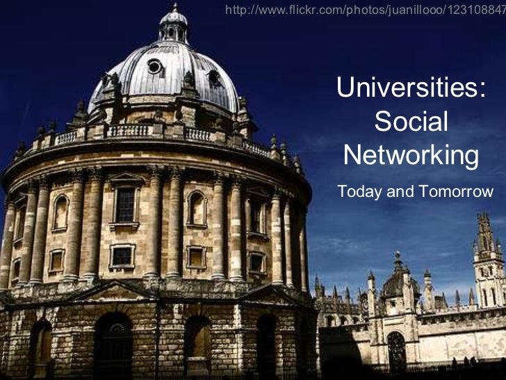 Universities and Social Networking