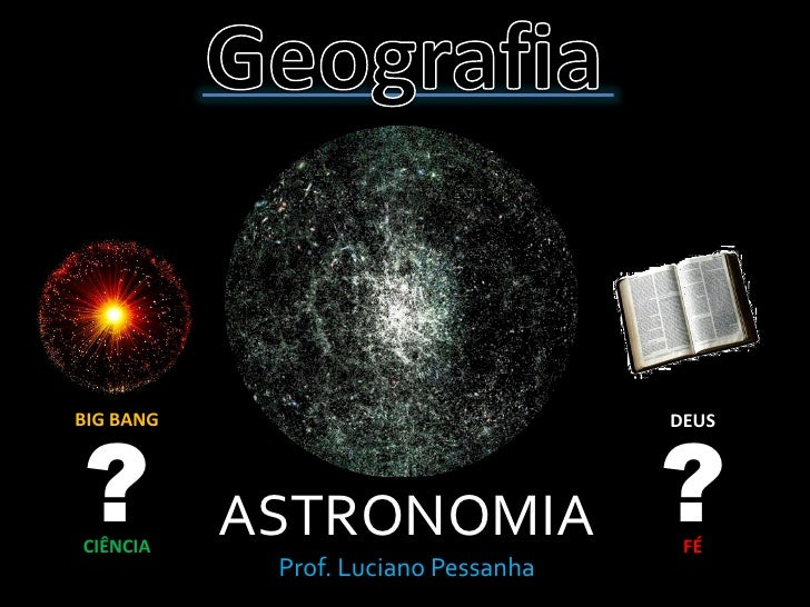 ?                                    ? BIG BANG                             DEUS     CIÊNCIA            ASTRONOMIA        ...