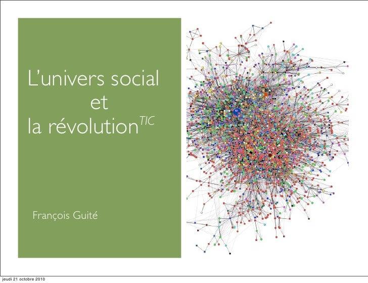 L'univers social et la révolution TIC