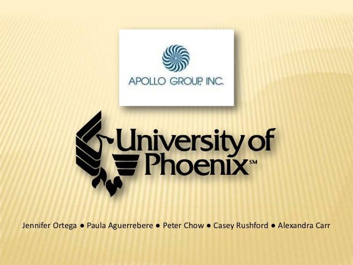 Univ ofphoenixapollogroup presentation