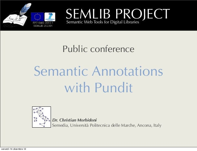 SEMLIB PROJECT                                  Semantic Web Tools for Digital Libraries                                Pu...