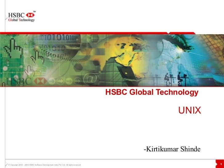 HSBC Global Technology   UNIX -Kirtikumar Shinde