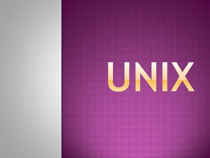 Unix mod