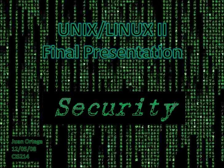 Unix Security