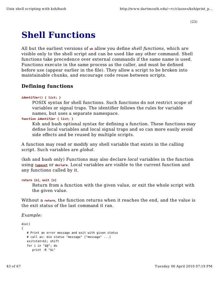 how to run shell script in unix