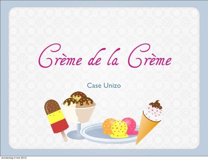 Unizo game crème de la crème - Sebastiaan Jans