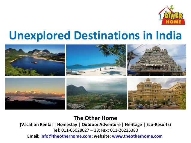 Unexplored Destinations in IndiaThe Other Home(Vacation Rental | Homestay | Outdoor Adventure | Heritage | Eco-Resorts)Tel...