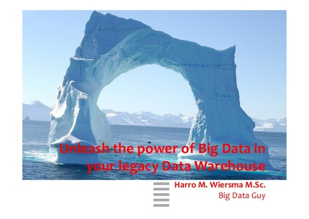 WHT/082311      Unleash  the  power  of  Big  Data  in   your  legacy  Data  Warehouse      Ha...