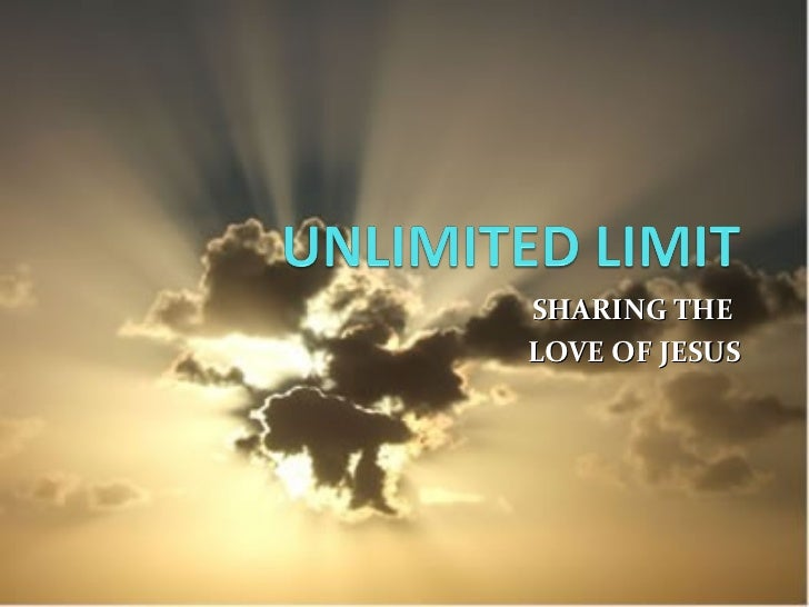SHARING THE  LOVE OF JESUS