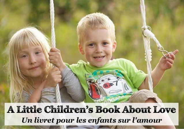 Un livret pour les enfants sur l'amour