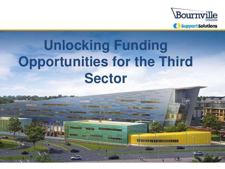 Unlocking Funding  Opportunities for the Third           Sector18 May, 2012