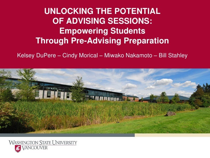 UNLOCKING THE POTENTIAL          OF ADVISING SESSIONS:           Empowering Students      Through Pre-Advising Preparation...