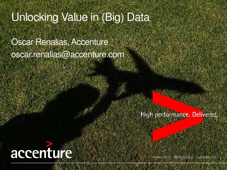 Unlocking value in your (big) data
