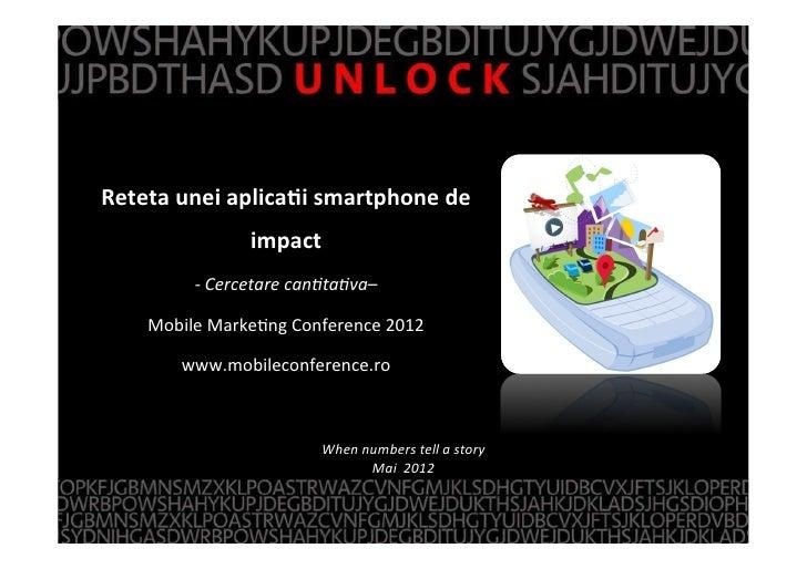 Reteta unei aplica,i smartphone de                            impact z                -‐ Cercetare can)t...