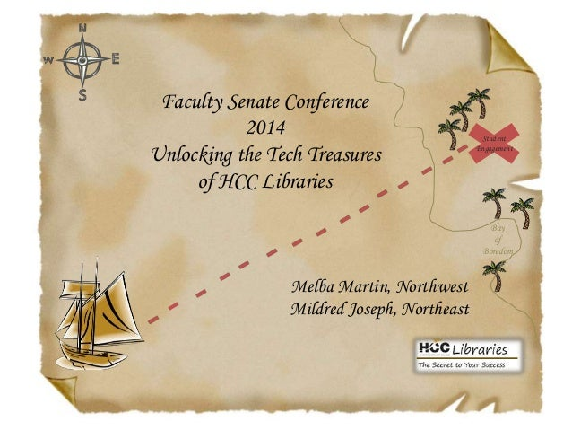 Faculty Senate Conference 2014 Unlocking the Tech Treasures of HCC Libraries  Student Engagement  Bay of Boredom  Melba Ma...