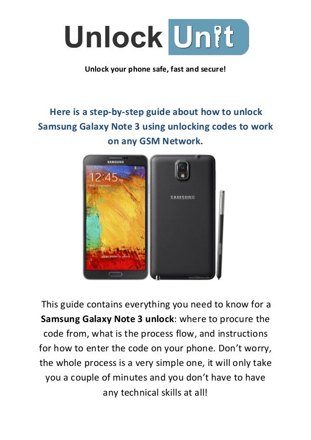 How to Unlock for Samsung Galaxy Note 3
