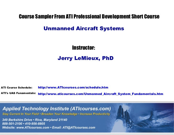 Short essay on unmanned aircraft system