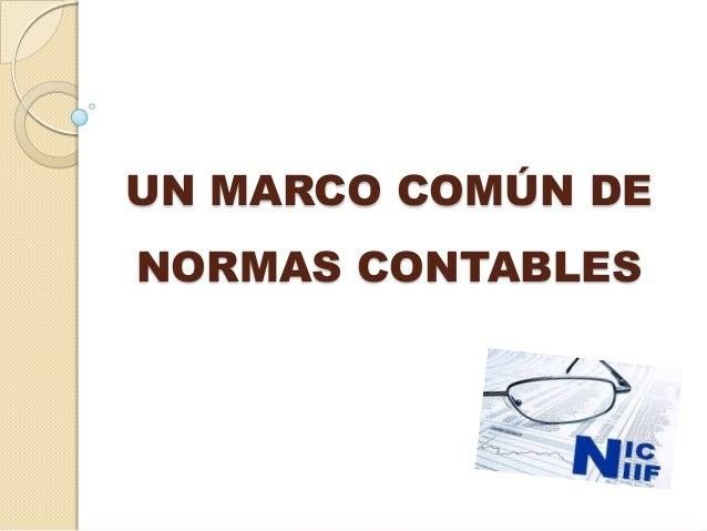 UN MARCO COMÚN DENORMAS CONTABLES