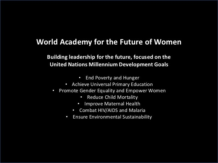 World Academy for the Future of Women - MDG