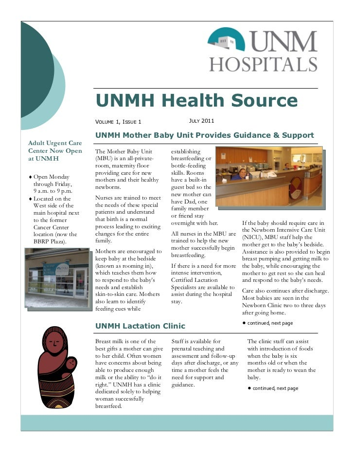 UNMH Health Source July 2011