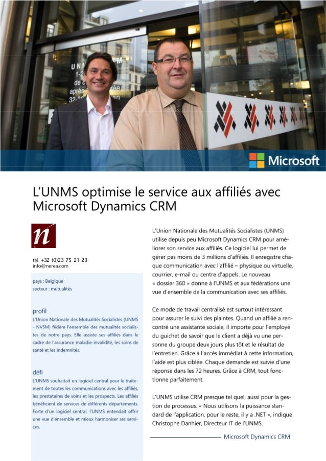 UNMS Business Case (Public Sector) in French