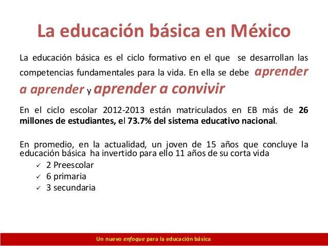 Prioridades de la Educacion Basica en Mexico la Educación Básica en