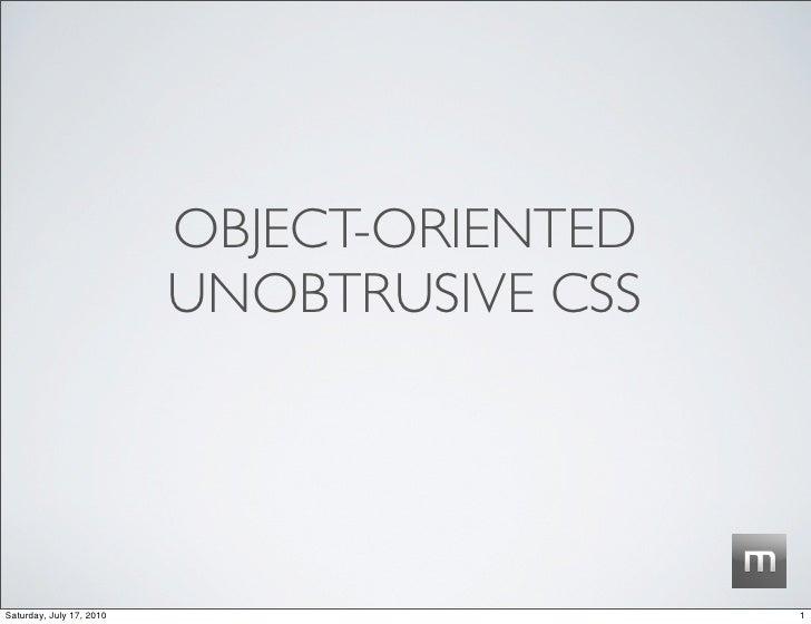 Unobtrusive CSS
