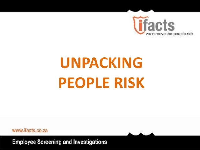 UNPACKINGPEOPLE RISK