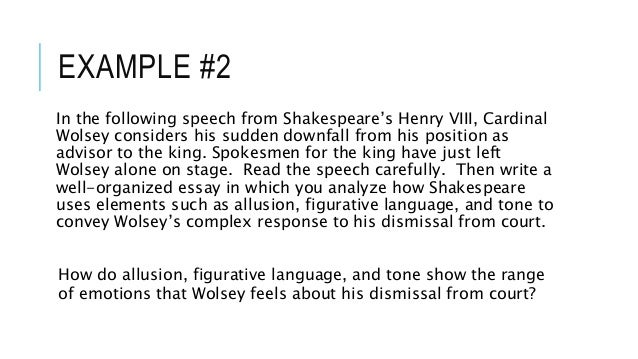 ap english literature essay examples