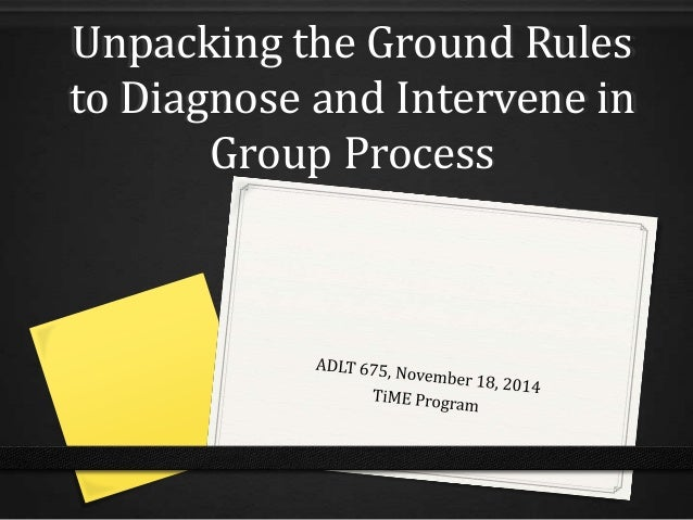 Unpacking the ground rules to diagnose and intervene