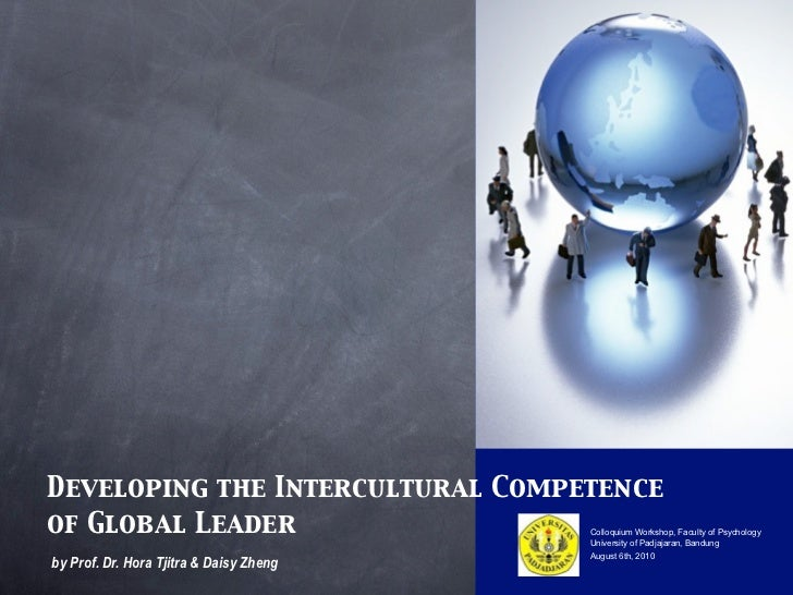 Developing the Intercultural Competence of Global Leader