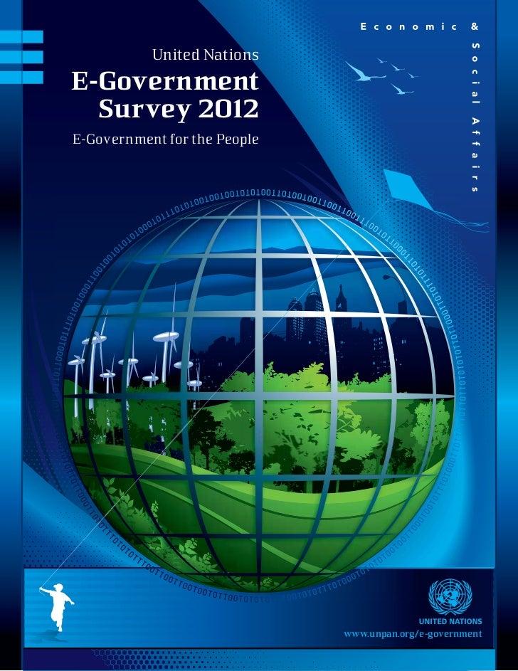 рейтинг ООН по электронному правительству 2012 год