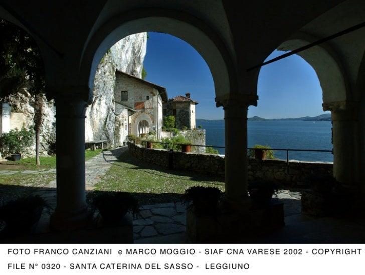 Un particolare di Santa Caterina del Sasso Ballaro, immersa nella magnifica natura del lago Maggiore