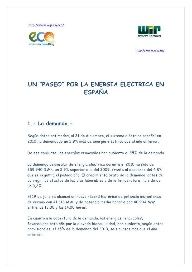 """http://www.wip.es/eco/                                                            http://www.wip.es/UN """"PASEO"""" POR LA ENER..."""