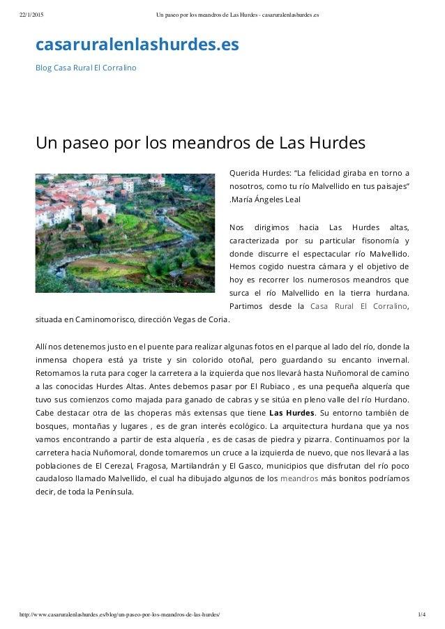 22/1/2015 Un paseo por los meandros de Las Hurdes - casaruralenlashurdes.es http://www.casaruralenlashurdes.es/blog/un-pas...