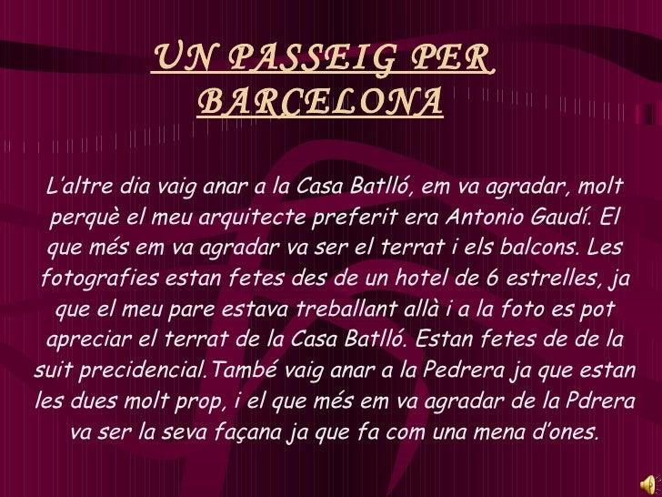 Un Passeig Per Barcelona