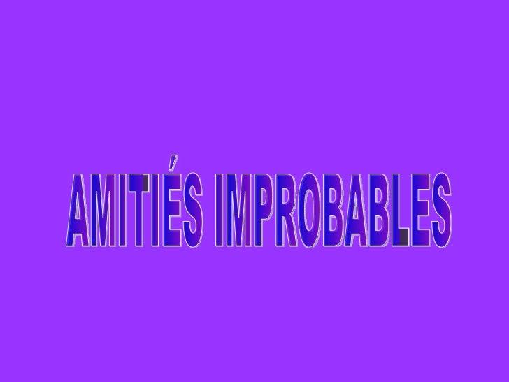 AMITIÉS IMPROBABLES