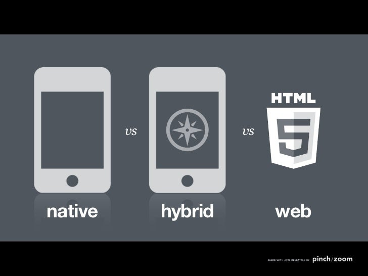 vs            vsnative        hybrid        web