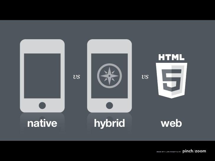 Native v. Hybrid v. Web
