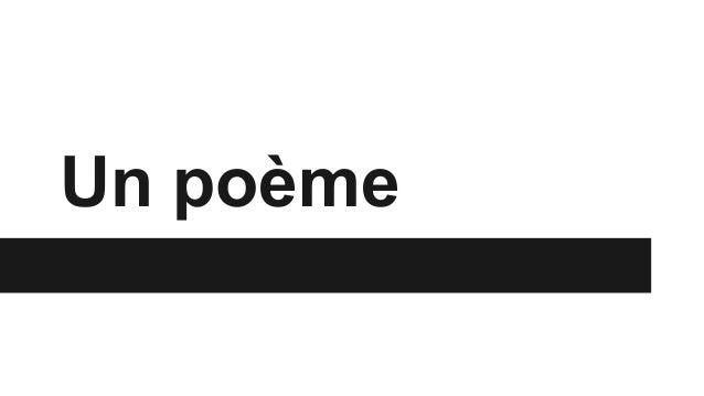 Un poème