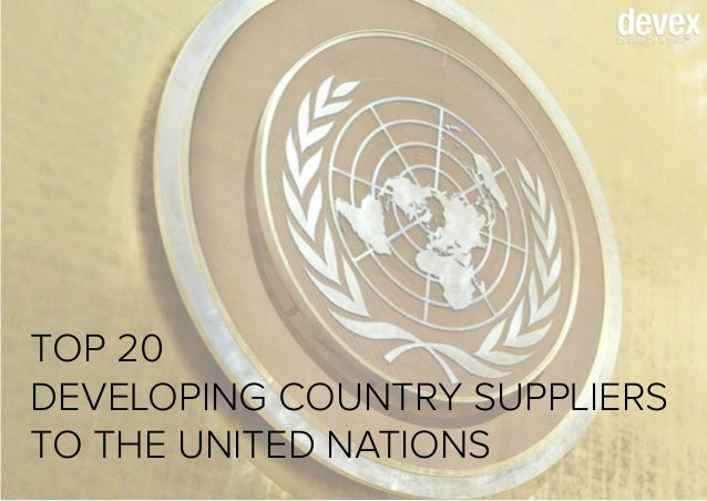 Top 20 Developing Country Suppliers to the United Nations