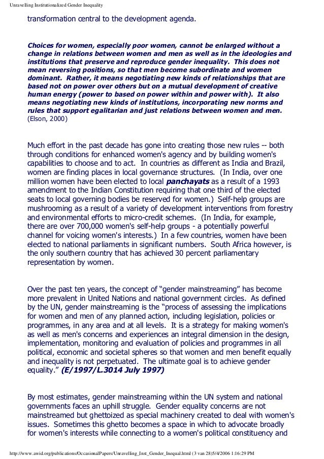 essay on equility Effective strategies for promoting gender equality  dfid found t hat i ncluding gender equity in desi gn had little impact in public health systems,.
