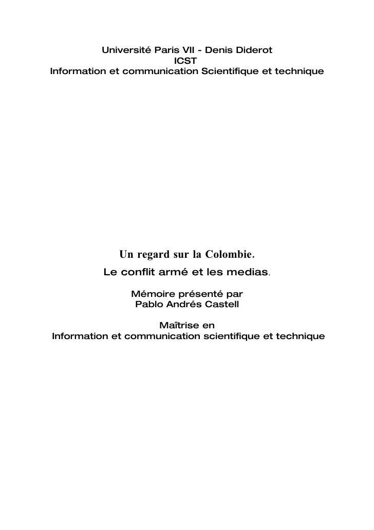 Université Paris VII - Denis Diderot                          ICST Information et communication Scientifique et technique ...