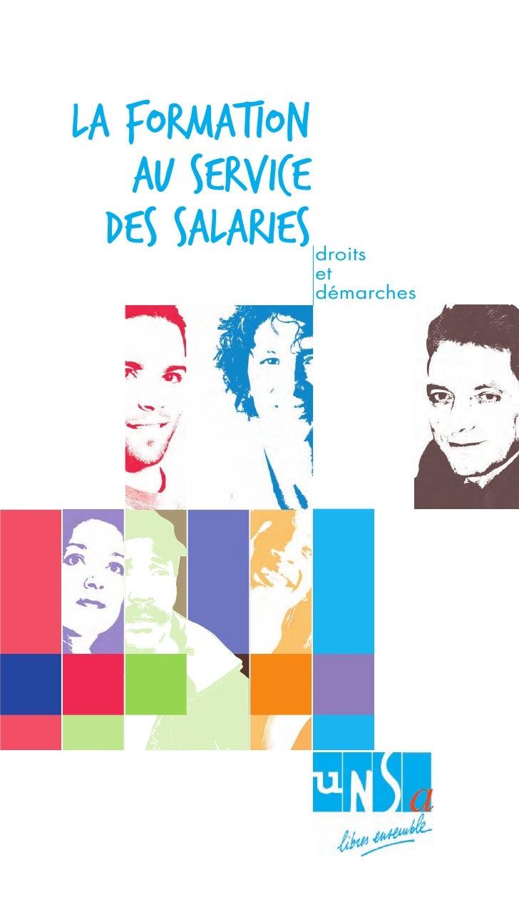 la formation    au service   des salariEs   droits                  et                  démarches